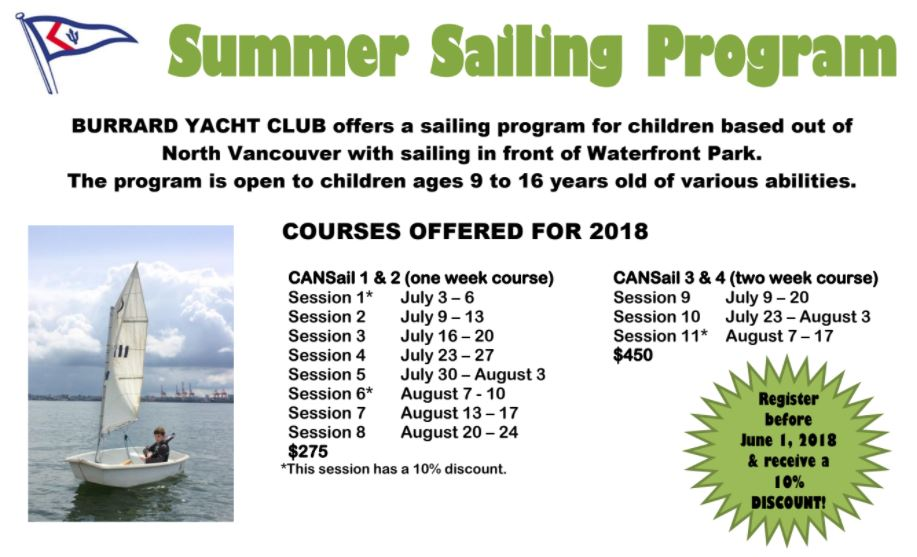Sailing program ad 2018